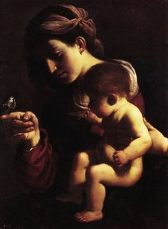 Guercino, Madonna col Bambino ( 1615-1616 ). Pinacoteca Nazionale, Bologna.