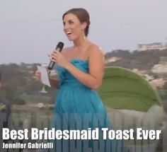 At a fairytale wedding at the recently acquired Omni La Costa Resort & Spa in Carlsbad, CA, Maid of Honor Jennifer Gabrielli chose her moment to deliver the best bridesmaid toast ever.