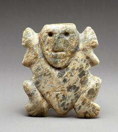 Cohoba Powder | humanlike head graces this frog stone amulet (at the Museo ...