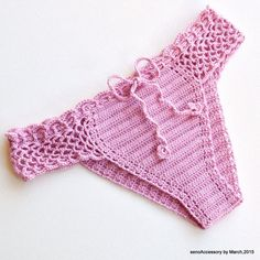 Lilac 2015 Crochet Bikini Swimwear Brazilian by senoAccessory