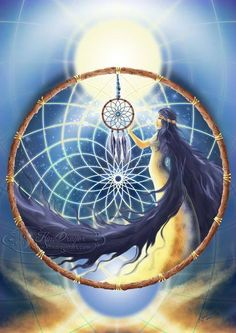 """The Ojibwe tribe were the original crafters of the dreamcatcher based on the wisdom of Asibikaash also known as """"Spider Woman. They were placed under the beds of children to catch and trap bad dreams like a spider's web catches anything that lands on it. A small hole was fashioned in the center of each dream catcher where only good dreams could come through. With the first rays of sunlight, the bad dreams would perish. A feather is placed in the center"""