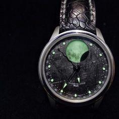 Schaumburg Perpetual Moon, Meteorite Dial | #WRISTPORN by @watch.strap.wrist | www.wristporn.com   (at www.WRISTPORN.com)