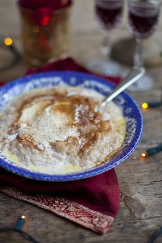 Swedish Christmas rice pudding - my mom makes this for us every year.  She adds ...