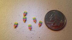 Set of 6Tiny Popsiclesmade from polymer clay by JennsFunDesigns, $3.99