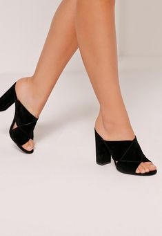 60a85bbed25b Cross Strap Block Heel Sandals Black