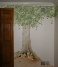 Peter Rabbit Baby Nursery Mural https://pinterest.com/picturesnow/nursery-ideas/