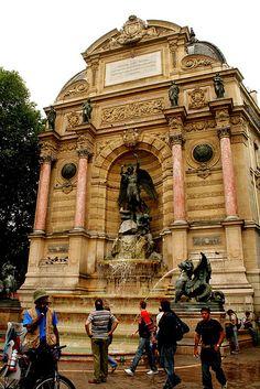 Saint Michel fountain Boulevard Saint Michel, Paris