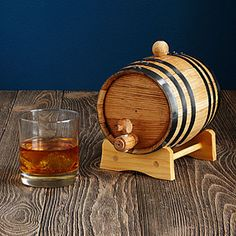 Whiskey and Rum Making Kit | home beverage brew oak barrel kit | UncommonGoods