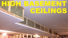 How To Maximize Basement Ceiling Height - Modern Basement Ceiling Insulation, Basement Ceiling Painted, Basement Ceiling Options, Drywall Ceiling, Mirror Ceiling, Ceiling Plan, Ceiling Height, Ceiling Ideas, Basement Ceilings