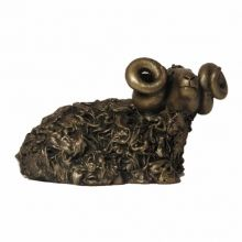 Black Faced Ram Tilted Head Bronze Figure £46.99