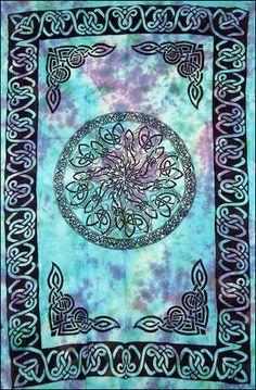 Celtic Knot Mandala - Tie-Dye - Tapestry 72 in. x 108 in.