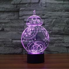 Star Wars droid Bulbing Light Toys New 7 Color Changing Visual illusion LED Decor Lamp Darth Vader Millennium Falcon Toy - Shazam Toys