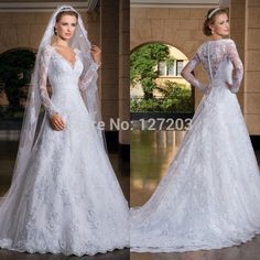 Cheap dresses for a summer wedding, Buy Quality wedding invitation craft supplies directly from China wedding dresses price Suppliers:      2014 SexyCustom Made vestido de noiva A-Line See Through Back Long Sleeve
