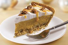 "Pumpkin Turtle Pie - my favorite dessert recipe - so easy and everyone loves it. I never make regular pumpkin pie anymore. I even make this for my husband for his birthday ""cake"". YUM!"