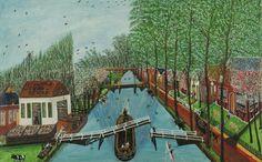 Cornelis Kaay | 1905 - 1979 View of the village 'Nieuwe Niedorp'