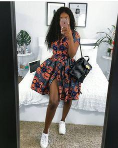 Cute Ankara Split Gown African Fashion Ankara, African Inspired Fashion, Latest African Fashion Dresses, African Print Fashion, Africa Fashion, African Style, Latest Ankara Dresses, Latest Ankara Short Gown, Ankara Short Gown Styles