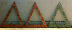 Our new chapter letters that I made.