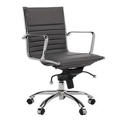 Z Gallerie - Malcolm Office Chair - Gray