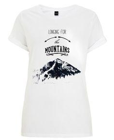 LONGING FOR THE MOUNTAINS als Frauen T-Shirt von Monika Strigel | JUNIQE