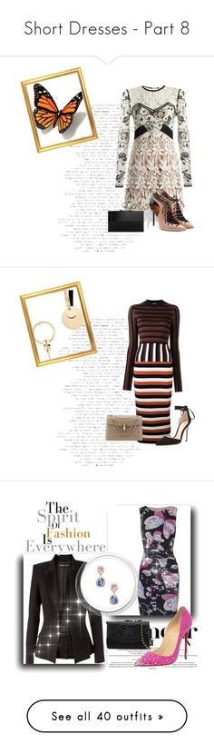 """""""Short Dresses - Part 8"""" by miriam83 ❤ liked on Polyvore featuring Brewster Home Fashions, Home Decorators Collection, White Label, Nicki Minaj, Chanel, Givenchy, Christian Dior, Haute Hippie, Whiteley and Clinique"""