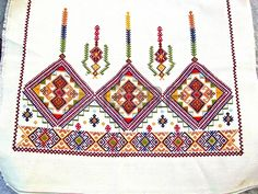 Traditional embroidery designs from the island of Crete Greece Stockfoto Embroidery Patterns Free, Star Patterns, Cross Stitch Embroidery, Hand Embroidery, Embroidery Designs, Greek Pattern, Thread Art, Crete Greece, Textiles