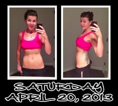 Day 20 of my 30 Day Ab Challenge. 30 minutes of cardio + 15 minutes of ab workouts = feeling great!