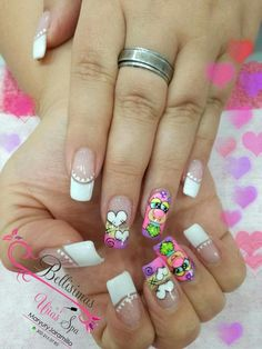 Pretty Nail Designs, Nail Art Designs, Nail Manicure, Pedicure, Love Nails, Pretty Nails, Beautiful Nail Art, Beauty, 3d