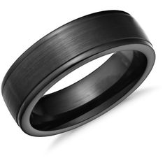 s7 Comfort Fit Wedding Band Mens 7mm Classic Dome Edge High Polished Black Ceramic Ring