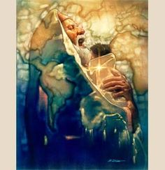 Ron DiCianni ~ Simeon's Moment-this is probably one of my favorite-Simeon a man who was told he wouldn't die til he met the messiah is holding him and is so thankful to the Lord's promise. He foretells the reason this special little messiah Jesus came to this earth and the type of death he will face.
