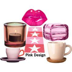 """""""Pink Design"""" by royaldesign on Polyvore #pink #design #decor"""