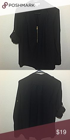 Black Calvin Klein tunic, excellent condition, M Black Calvin Klein tunic, excellent condition, M. Sleeves can be worn 1/2 full length Calvin Klein Tops Blouses
