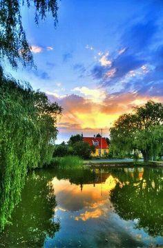 Summer sunset, Denmark.