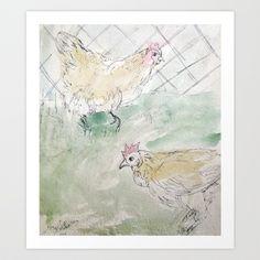 Rooster Sketch #1 Art Print by Yousef Balat @ Hoop Snake Graphics LLC - $17.00