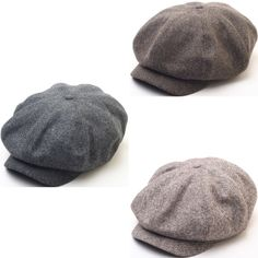 N124 8 Panel Homespun Harris Donegal Tweed Pattern Fabric Newsboy Cap Gatsby Hat