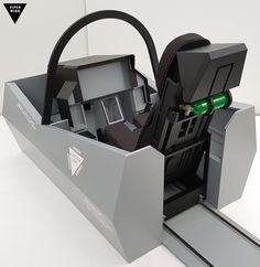F-35 simulator cockpit fuselage shell frame