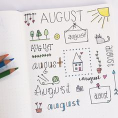 Getting ready for August in my bullet journal ❤️