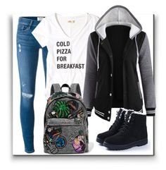 Cold Pizza for Breakfast by gracecar3 on Polyvore featuring polyvore, fashion, style, Hollister Co., Frame, Marc Jacobs and clothing
