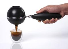 This handheld Espresso Maker is must have in any kitchen. Saves time and energy - making life easy in the morning.