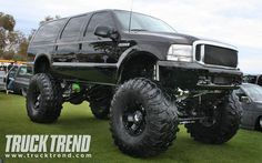 2008 Bring The Noize Truck Show Custom Lifted Ford Excursion Front View Hummer Truck, F150 Truck, Lifted Ford Trucks, 4x4 Trucks, Custom Trucks, Ford Excursion, Ford Motor Company, Cool Cars, Monster Trucks