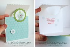 Julie's Stamping Spot -- Stampin' Up! Project Ideas Posted Daily: VIDEO: Flap Fold Card Tutorial