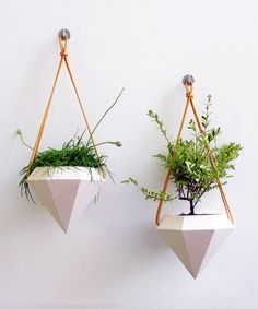 Object Design: I love the geometry!  Diamond Planters - Gold - Apartment Garden Collection - Dot & Bo