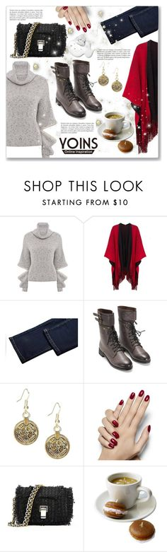 """♡ Grey High Neck Jumper by YOINS ♡"" by dressedbyrose ❤ liked on Polyvore featuring Proenza Schouler, polyvoreeditorial, CoffeeDate, yoins and yoinscollection"