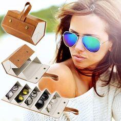 Sunglasses Storage, Ray Ban Sunglasses, Sunglasses Accessories, Cat Eye Sunglasses, Mirrored Sunglasses, Sunglasses Holder, Cool Glasses, Glasses Case, Bead Storage