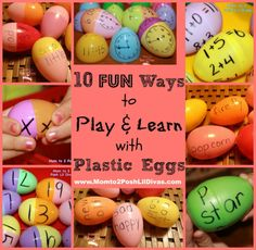 10 Ways to Use Plastic Eggs for Learning with Kids from Mom to 2 Posh Lil Divas
