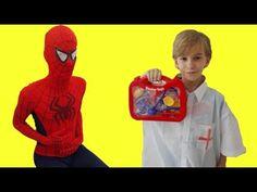 SPIDERMAN POO after FROZEN ELSA 's meal w/ Pregnant ELSA Spiderman KID D...