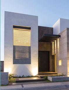 Fachada de casa moderna de un piso fachadas de casas for Diseno de fachadas minimalistas