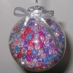 We have compiled a list of the Top 100 Christmas Crafts: Christmas Ornament Crafts, Angel Crafts, Wreaths, and More. Find the best homemade Christmas decorations of the year. Clear Glass Ornaments, Beaded Ornaments, Ball Ornaments, Diy Ornaments, Homemade Ornaments, Homemade Candles, Snowflake Ornaments, Homemade Christmas Decorations, Christmas Ornaments To Make