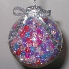 Best Glass Ball Ornament  using acrylic beads via BHG