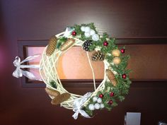 Kerst deur decoratie