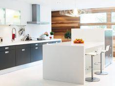 Kitchens from Swedish Vedum « webstash Kitchen Island, Kitchen Cabinets, Kitchen Worktops, Granite Worktops, Quality Kitchens, Piece A Vivre, Solid Surface, Ikea, Mac